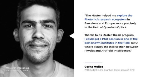 CLICK HERE to know more about our students' experience: Gorka Muñoz