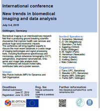 "Conference ""New trends in biomedical imaging and data analysis"", Gottingen, Germany, July 3-4, 2019."